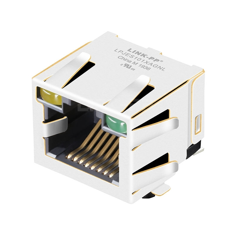 Without Integrated Magnetics Right Angle RJ45 Female Connector