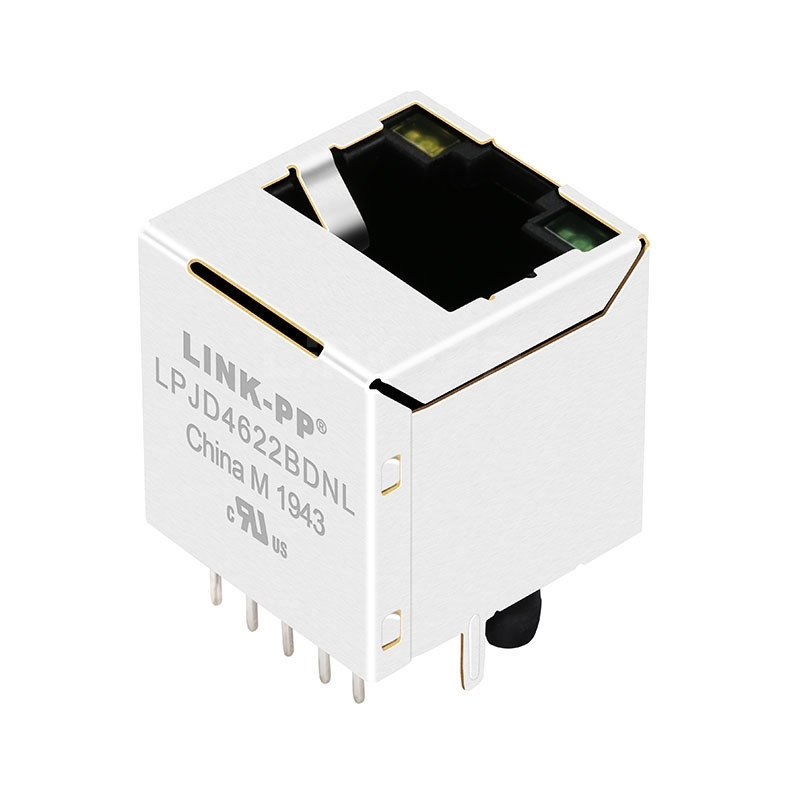 Tyco 2301995-3 Compatible LINK-PP LPJD4622BDNL 10/100/1000 Base-T Yellow/Green LED Vertical MagneticRJ45 Jack