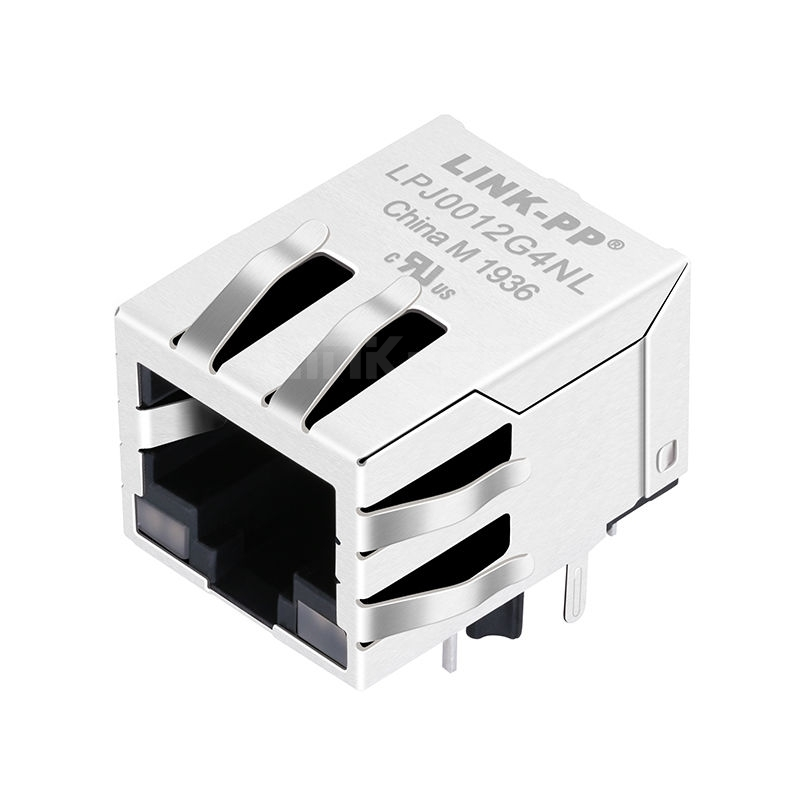 Belfuse SI-60024-F Compatible LINK-PP LPJ0012G4NL 10/100 Base-T Tab Down Green&Yellow/Green&Yellow Led Single Port 90 Degree Connector RJ45 Network Jack