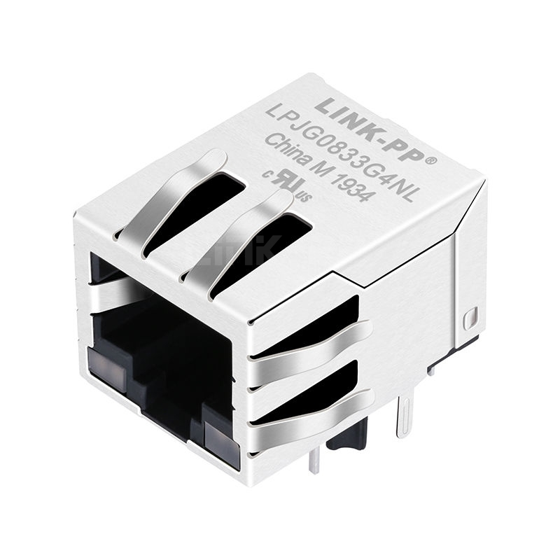 Tyco 1840475-6 Compatible LINK-PP LPJG0833G4NL 100/1000 Base-T Tab Down G&Y/G&Y Led One Port Shielded RJ45 PCB Connector