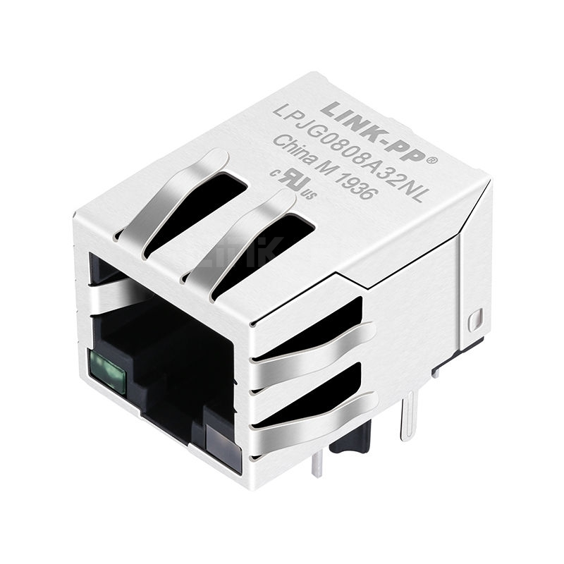 RB1-13MB5NVF Compatible LINK-PP LPJG0808A32NL 100/1000 Base-T Tab Down Green/Green&Yellow Led 1 Port Cat6 Ethernet RJ45 PCB Connector