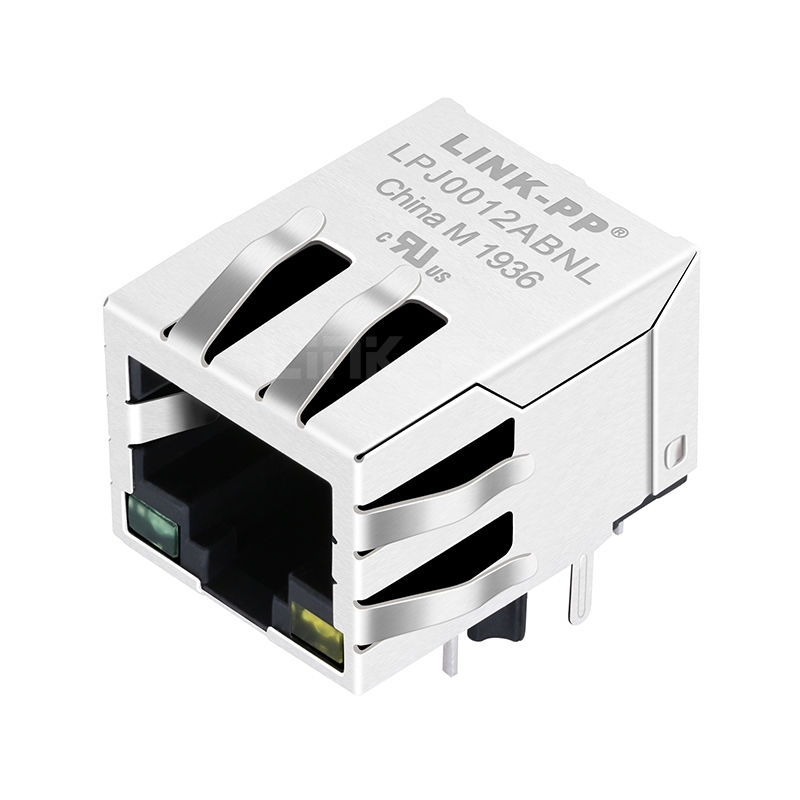 XFMRS XFATM9-CALGY1-4S Compatible LINK-PP LPJ0012ABNL 10/100 Base-T Tab Down Green/Yellow Led 1 Port 8P8C Lan RJ45 with Integrated Magnetics