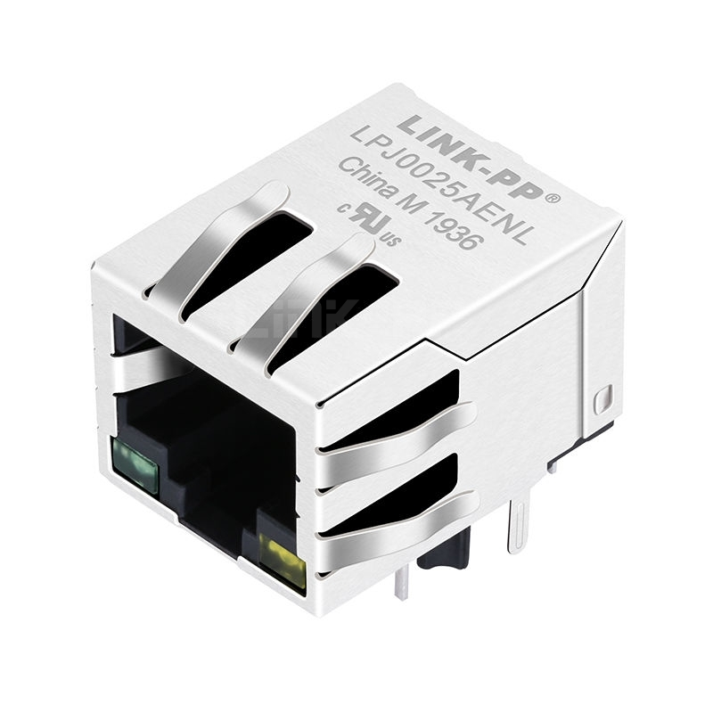 Bothhand NU1S516-434LF Compatible LINK-PP LPJ0025AENL 10/100 Base-T Tab Down Green/Yellow Led 1x1 Port 8P8C RJ45 with Integrated Magnetics