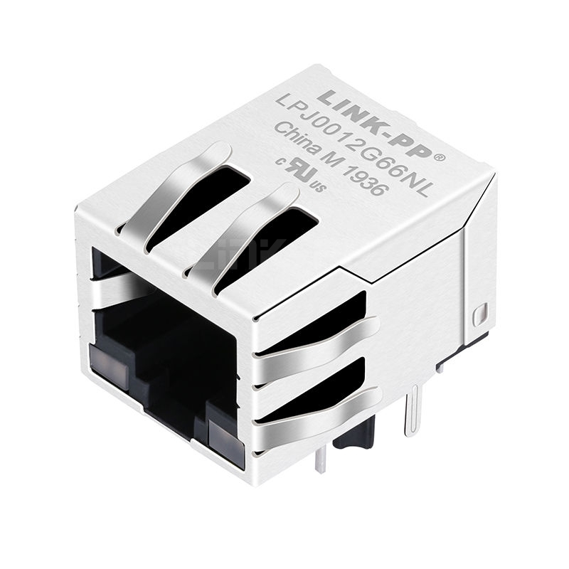 Belfuse SI-60189-F Compatible LINK-PP LPJ0012G66NL 10/100 Base-T Tab Down Red&Green/Red&Green Led 1x1 Port PCB 8P8C RJ 45 Female Connector