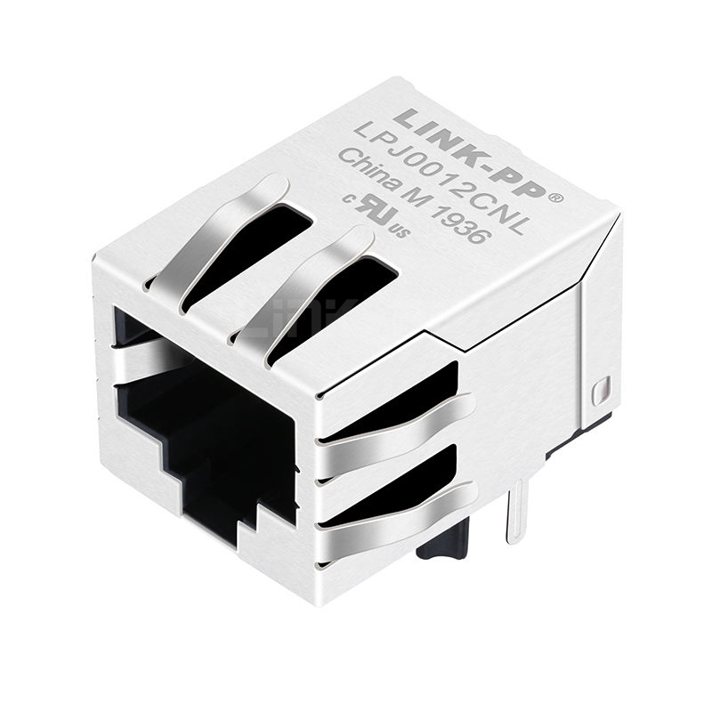 WE MIC24010-5101T-LF3 Compatible LINK-PP LPJ0012CNL 10/100 Base-T Tab Down Without Led 1 Port 8 Pin Integrated RJ-45 Connector