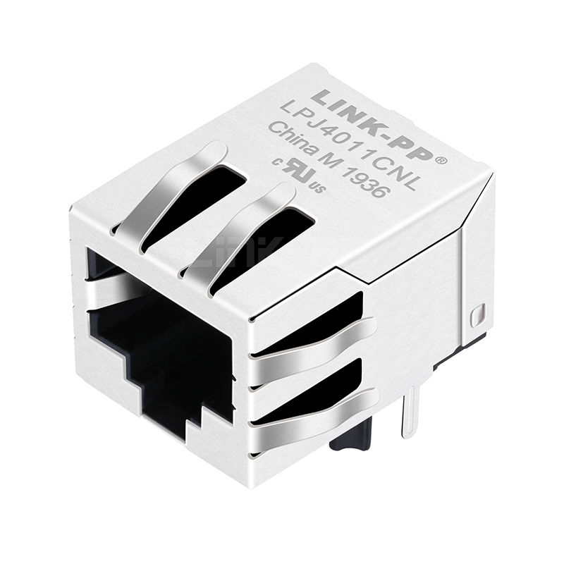 YDS 13F-60NDK2NL Compatible LINK-PP LPJ4011CNL 10/100 Base-T Tab Down Without Led Single Port 8P8C PCB Industrial RJ 45 Connector