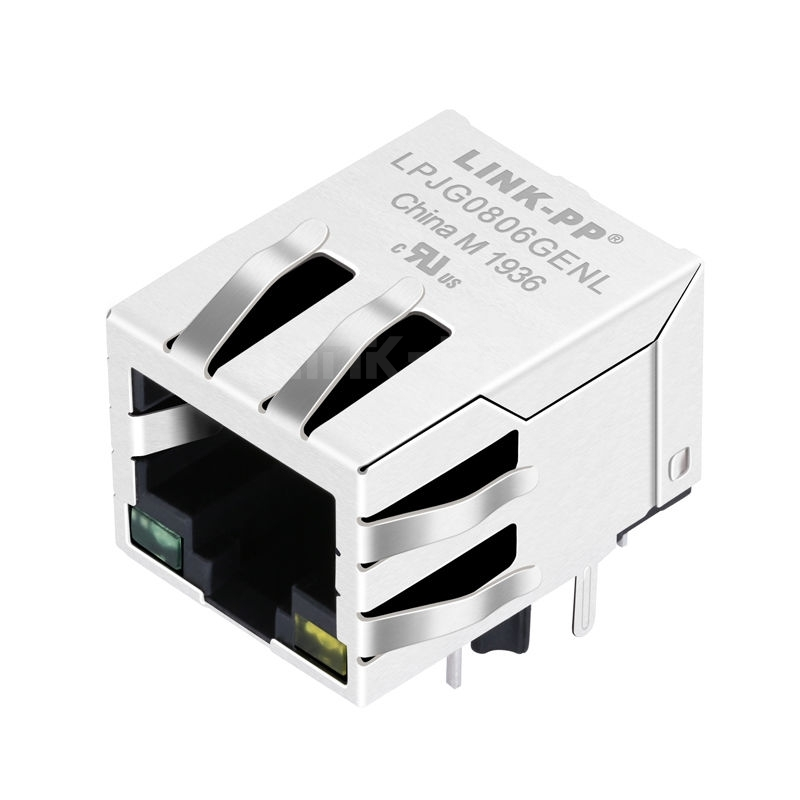 Tyco C-5-6605433-8 Compatible LINK-PP LPJG0806GENL 100/1000 Base-T Tab Down Green/Yellow Led 1x1 Port Industrial Ethernet RJ45 Connector