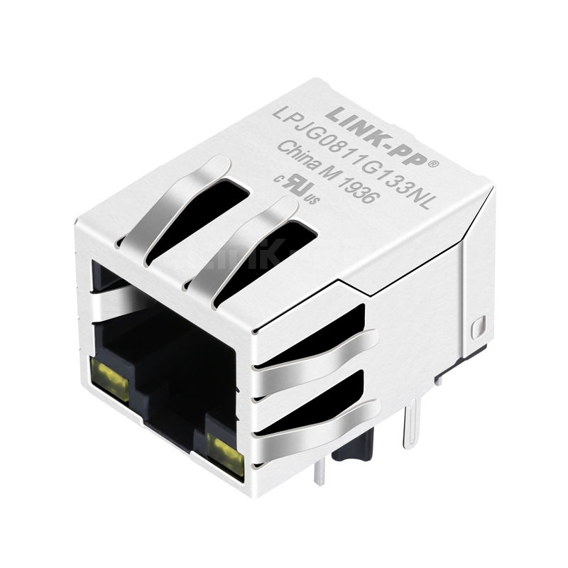 Tyco 1840434-3 Compatible LINK-PP LPJG0811G133NL 100/1000 Base-T Tab Down Yellow/Yellow Led One Port Cat6 RJ 45 Networking