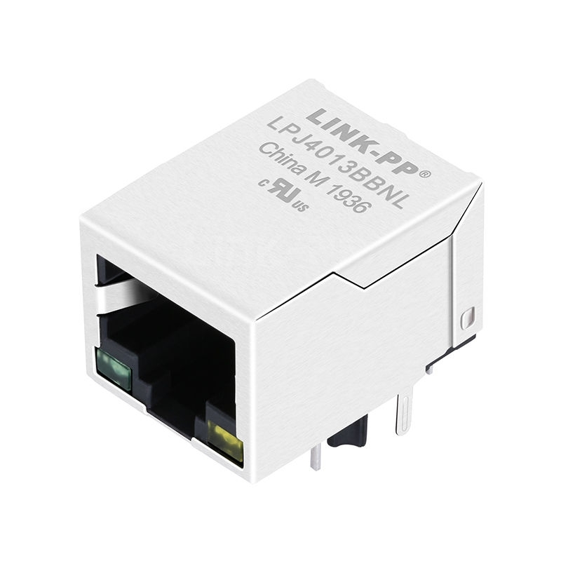 YDS 13F-63CGYD2SNW2NL Compatible LINK-PP LPJ4013BBNL 10/100 Base-T Tab Down Green/Yellow Led 1x1 Port Ethernet Connector RJ45 Jack