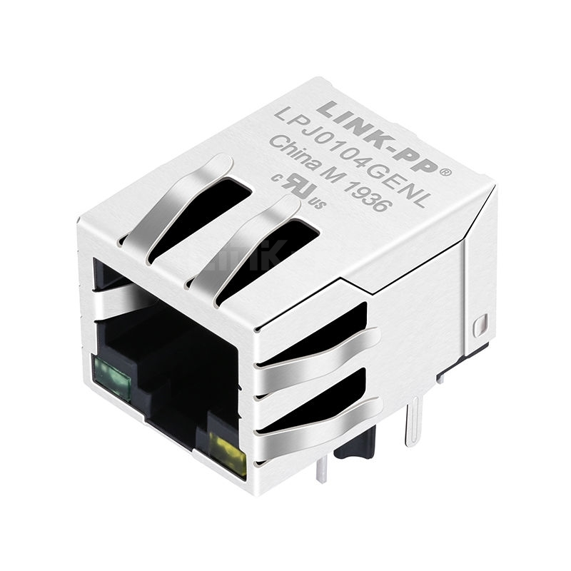 WE MIC64013-5180T Compatible LINK-PP LPJ0104GENL 10/100 Base-T Tab Down Green/Yellow Led 1x1 Port Ethernet POE RJ45 Jack with Magnetics