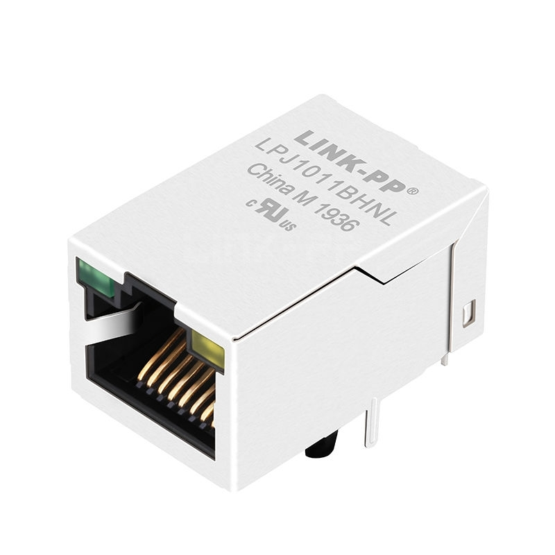 Belfuse SI-50246-F Compatible LINK-PP LPJ1011BHNL 10/100 Base-T Tab Up Green/Yellow Led Single Port Industrial RJ 45 Magnetics