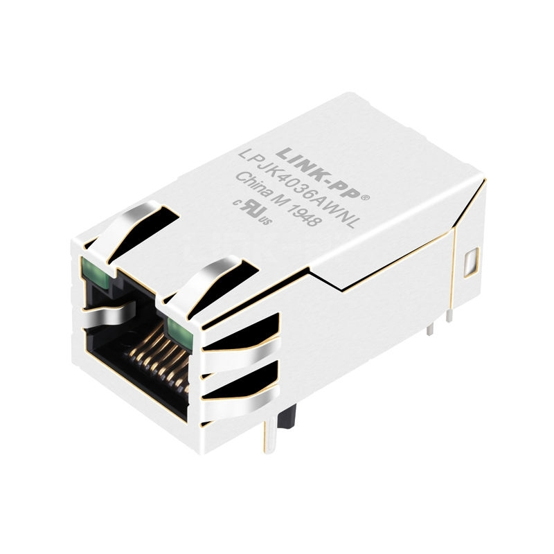Belfuse 0826-1G1T-32-F Compatible LINK-PP LPJK4036AWNL 100/1000 Base-T Tab Up Green/Green Led 1x1 Port 12 Pin RJ45 Network