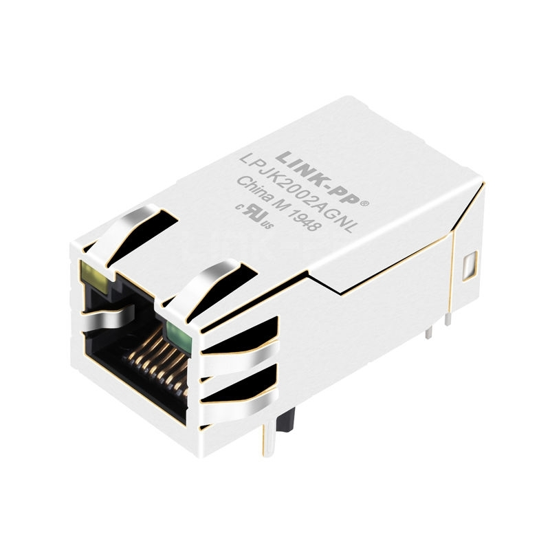 WE 7499411122A Compatible LINK-PP LPJK2002AGNL 100/1000 Base-T Tab Up Yellow/Green Led 1x1 Port POE+ Industrial RJ 45 Ethernet Connector