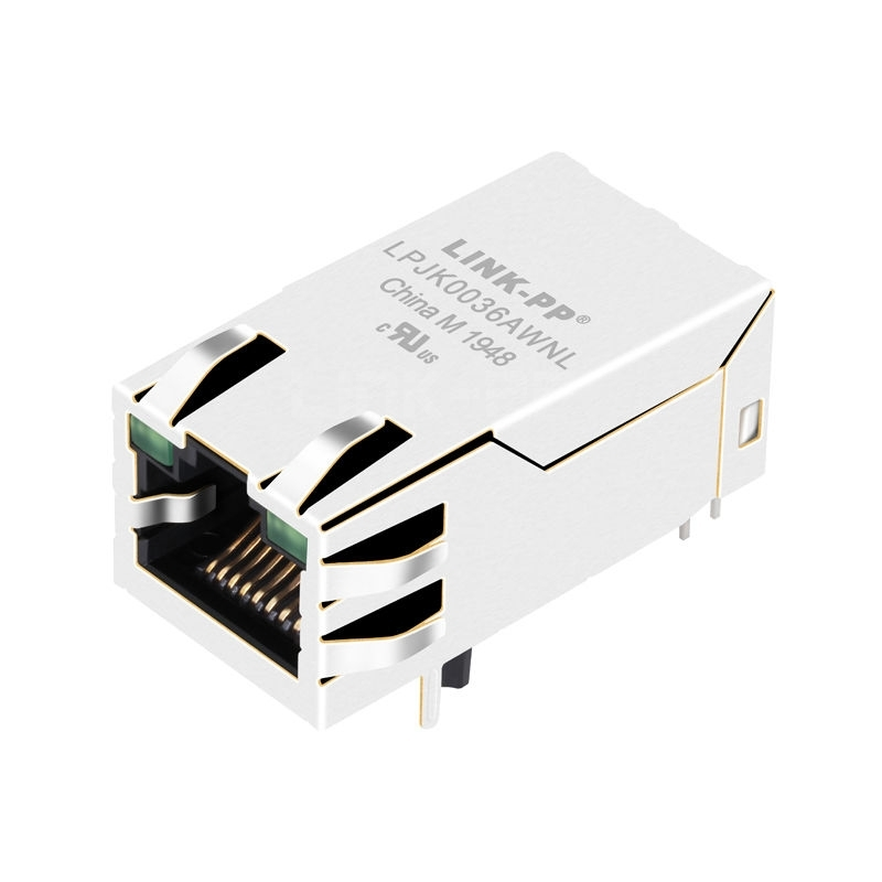 Tyco 1840728-7 Compatible LINK-PP LPJK0036AWNL 100/1000 Base-T Tab Up Green/Green Led 1x1 Port Industrial RJ45 Female Connector