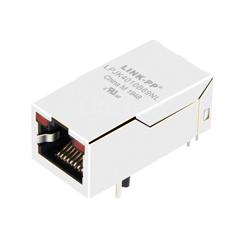 X multiple XFVOIP5QS-CTxu1-2L Compatible LINK-PP LPJK4010B69NL 10/100 Base-T Tab Up Red/Red Led 1x1 Port POE RJ-45 Magjack Connector