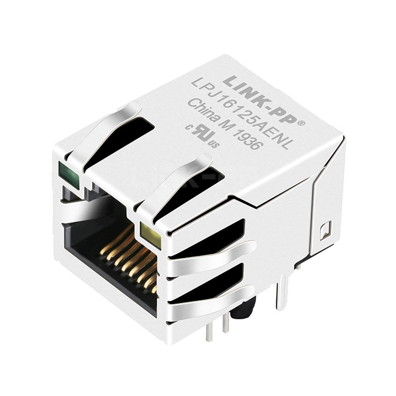 X Multiple XRJH-01E-4-E11-170 Compatible LINK-PP LPJ16125AENL 10/100 Base-T Tab Up Green/Yellow Led Single Port Industrial RJ45 Connector