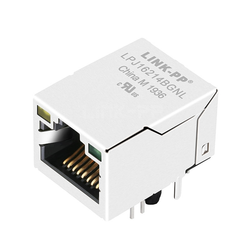 RT7-1B3A1K1F Compatible LINK-PP LPJ16214BGNL 10/100 Base-T Tab Up Yellow/Green Led Single Port 8P8C RJ-45 Connector