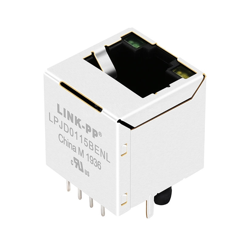 YDS 51F-1201GYD2NL Compatible LINK-PP LPJD0115BENL 10/100 Base-T Green/Yellow LED Vertical rj45 with magnetic