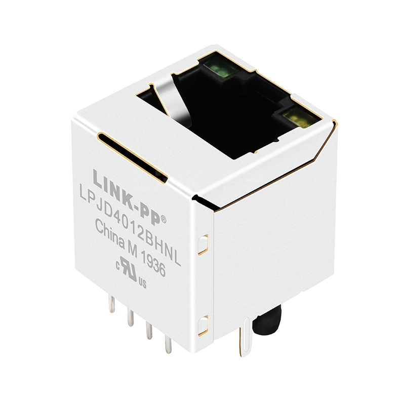 Amphenol  LMJ2138814S0L1T1C Compatible LINK-PP LPJD4012BHNL 10/100 Base-T Green&Yellow LED Vertical rj45 straight connection