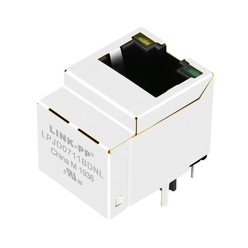 Tyco 1840417 Compatible LINK-PP LPJD0711BDNL 10/100/1000 Base-T Yellow/Green LED Vertical RJ45 Network Socket