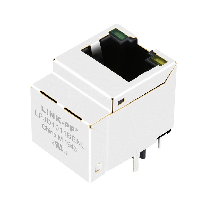 Tyco 1-1840419-3 Compatible LINK-PP LPJD1011BENL 10/100 Base-T Green/Yellow LED Vertical RJ45 Pass Through Connector