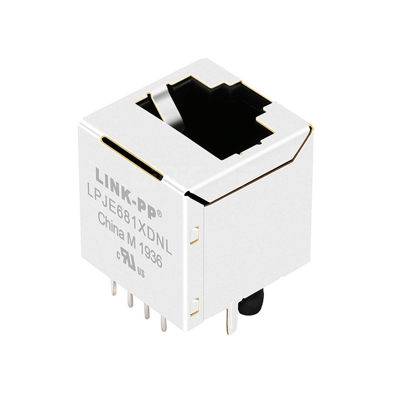 Tyco 6116202-1 Compatible LINK-PP LPJE681XDNL Without LED 8P8C Vertical RJ45 Jack without Integrated Magnetics