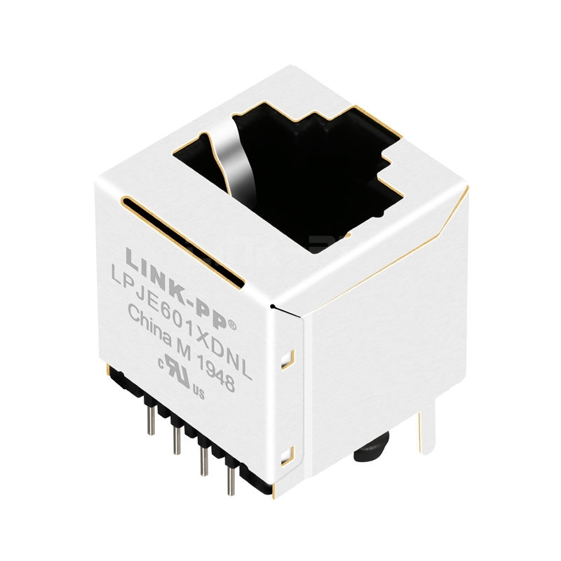 Pulse E5288-320042-L Compatible LINK-PP LPJE601XDNL Without LED Vertical RJ45 Modular Jack without Integrated Magnetics