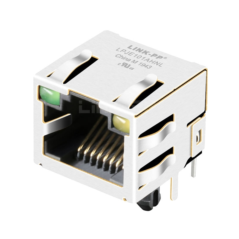 1X1 Port Ethernet Short RJ45 Jack without Magnetics